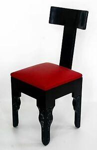 Moroccan tradirional berber handmade Black & Red chair