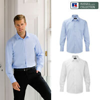 Russell Collection Men's Herringbone Shirt R-962M-0 - Long Sleeve Office Shirt