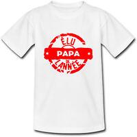 T-shirt Adulte Tampon Elu Papa de l'année - Fête des Pères - S au 2XL - famille