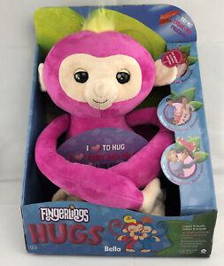 Fingerlings Hugs WowWee Advanced Interactive Plush Pink BELLA Monkey