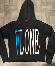 Authentic Vlone Friends Hoodie Size S Black/Blue