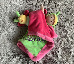 Security Blanket Lovey Baby Essentials Cute as a Bug Little Ladybug Pink Green