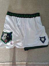 Authentic NBA Reebok Minnesota Timberwolves White Home Player Worn Shorts