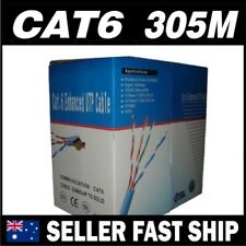 ** SELL 305m Cat 6 Cat6 Solid Blue Network Ethernet Phone Cable Boxed SAVE $$$