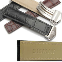 Dismay Leather Watch Band Strap For Tag Heuer Carrera Calibre 1887 - 22mm - 20mm