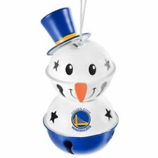 Golden State Warriors 2 Tier Snowman Bell Ornament Christmas Tree Holiday NEW