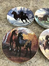 Lot Of 8 Horse Collector Plates, Spirit Of The Mustang, Hamilton Collection