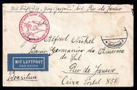 Germany 1930 Graf Zeppelin flown to Rio de Janeiro (stamp removed) WS10830