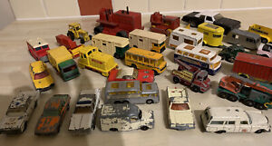 Vintage Bundle If Dinky/Matchbox/Lesney Toy Vehicles Poor Condition