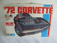 Vintage MPC 1/20 Scale 1972 Chevrolet Corvette Model Car Kit #7230 VG