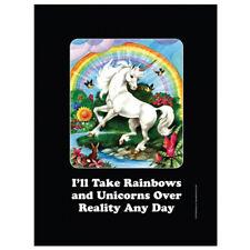 Half Moon Bay 'I'll Take Rainbows' Small Tin Wall Sign Plaque