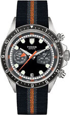 70330N-0002-FB1 | NEW TUDOR HERITAGE CHRONOGRAPH 42 MM GMT STEEL MEN'S WATCH