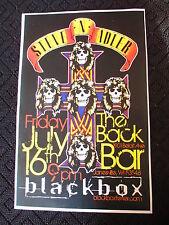 Original 2010 Steve N Adler Blackbox Concert Poster The Back Bar Janesville WI