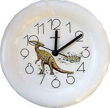 002502 Keramik Wanduhr (Motiv Dino mit langem Hals, braun) Quarzuhr