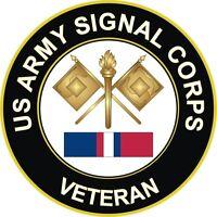"Army Signal Corps Kosovo Veteran 5.5"" Sticker"