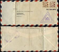 CURACAO to BOLIVIA CENSORED 1941 AIRMAIL 1.40 + 60c FRANKING