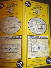 Carte michelin 24 andermatt bolzano 1965