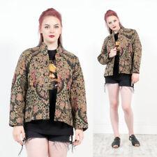 Plus Size Cotton Blend Floral Coats & Jackets for Women
