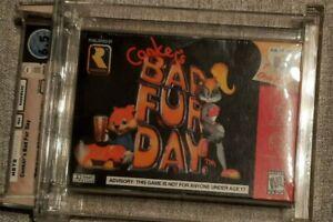 Conker Bad Fur Day Nintendo 64 N64 Sealed Graded WATA A+ Brand New VGA ~OFFER!~