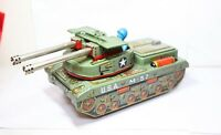 Yonezawar Japan Tinplate USA M-57 Tank - Near Mint Fully Working Model Rare