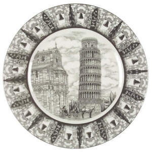 222 Fifth Slice of Life Tower of Pisa Dinner Plate 5932469