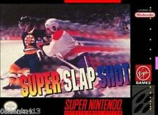 Super Slapshot (Super Nintendo SNES) Play as Any of 32 Teams! *COMPLETE*