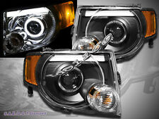 08-12 Ford Escape XLT XLS Limited DRL Strip Halo LED Projector Headlights Black