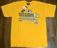 Green Bay Packers Titletown USA Team Apparel T-Shirt Yellow Size Large NWT