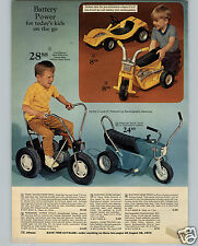 1971 PAPER AD 3 PG Play Pedal Bicycle Motorcycle Go Cart Poweride Super Cycle