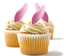 ✿ 24 Edible Rice Paper Cup Cake Toppings, decorations - Feathers ✿