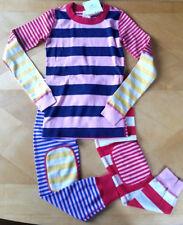NWT Hanna Andersson Organic MIX IT UP STRIPES Long John Pajamas Size 100 4
