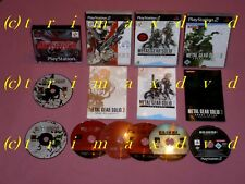 PS1/2 _Metal Gear Solid & MGS 2 Sons Of Liberty & MGS Substance & 3 Snake Eater