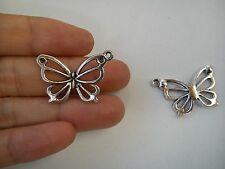 20 butterfly pendants charms tibetan silver antique wholesale craft FB66