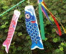 Japanese Windsock Koinobori Koi Nobori NYLON Carp Streamers Kit Flag Stick Set