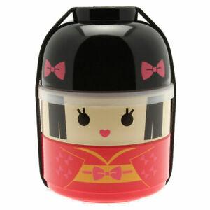 Japanese Bento Box Food Lunch Container 2-Tier Kokeshi Hime Princess JAPAN MADE