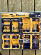 Brand New Dewalt Tool Set 100 piece drill screw bits NIB combo tough cases