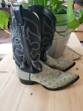 Vintage Tony Lama Boots in shades of Blue, Ostrich, Us Shoe Size Men's 8.5 Ee