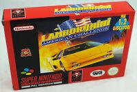 Jeu LAMBORGHINI American Challenge sur Super Nintendo SNES Neuf version PAL