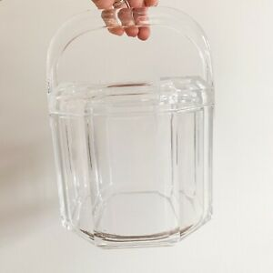Contemporary Acrylic Lucite Large Ice Bucket with Lid + Handle 🧊