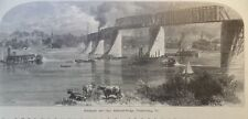 Baltimore And Ohio Railroad Bridge Parkersburg West Virginia 1878