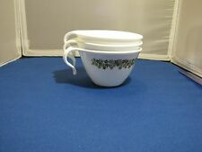 3 CORELLE CUPS CRAZY DAISY SPRING BLOSSOM HOOK HANDLE