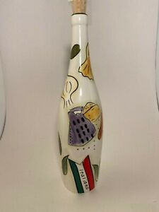 """12"""" Tall PAMPERED CHEF® Hand painted CERAMIC Italiano BOTTLE/Home Decor/"""