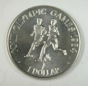 Solomon Island Coin 1 Dollar 1984 UNC, 1984 Olympic Games