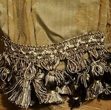 """NEW! lace with  tassel VALANCE CHANTILLY WINDOW 52"""" X 17.5"""" FLORAL"""