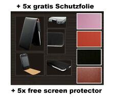 Flip Ledertasche Schutzhülle für iPhone 4/ 4S mit 5 kostenlosen Folien