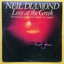 Neil Diamond - Love At The Greek - CBS 95001 Ex Condition Double Vinyl LP G/F