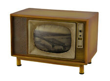 Zeckos Brown Vintage Finish Retro Console Television Coin Bank