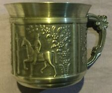 Small Pewter Cup with Horse and Rider Tenn Rollnas