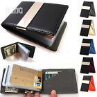 Slim thin Leather bifold wallet Credit Card holder Money clip travel for Men lot