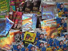 NON SPORT WRAPPERS 500+ X-Men TV/Movie Vampire Music Wacky Batman KONG No Cards